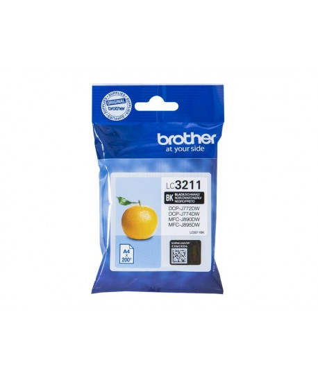 Brother Patrone LC-3211BK, Nero