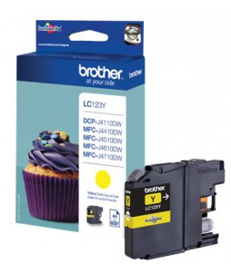 Brother Patrone LC-123Y, Giallo