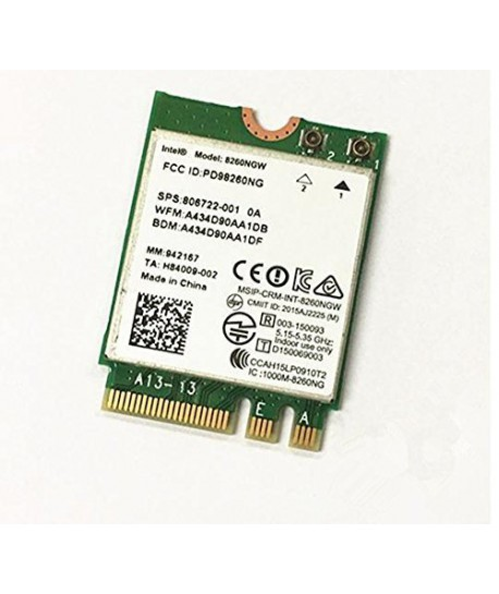 Intel Wireless AC-8260 Wi-Fi & Bluetooth M.2